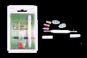 accessoires - CL-0060 vervangset siliconen neuspads  schroef